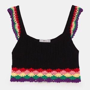 Zara NWT Crochet Tank Top